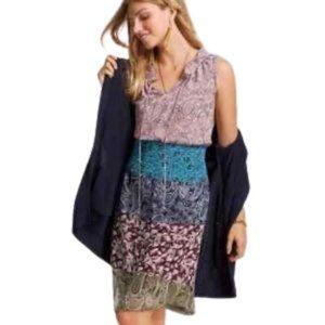 CAbi Dress sleeveless print multi colored SIZE SM